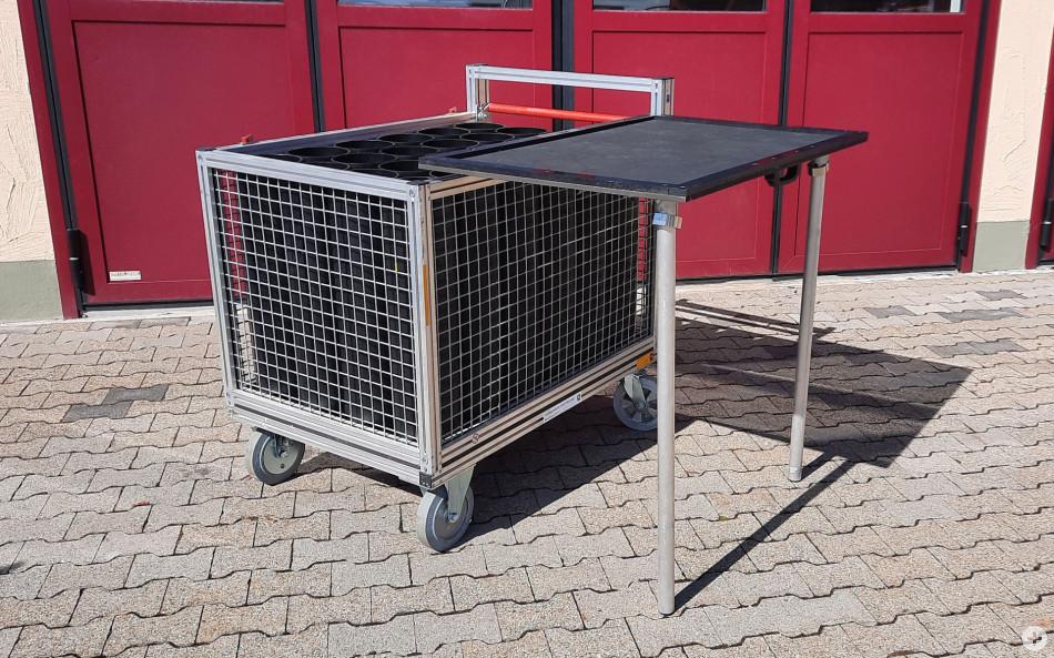 Rollcontainer Atemschutz offen
